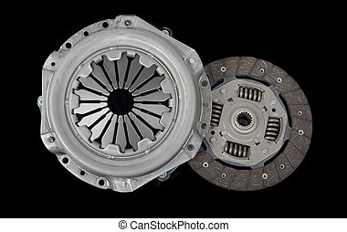 clutch kit on the black background