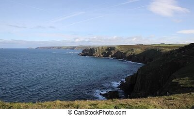 View from Lands End Cornwall UK - View from Lands End...