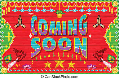 Coming Soon - illustration of Coming Soon background in...