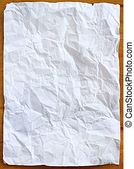 wrinkled paper - Stock Image