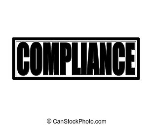 Compliance - Stamp with word compliance inside,vector...