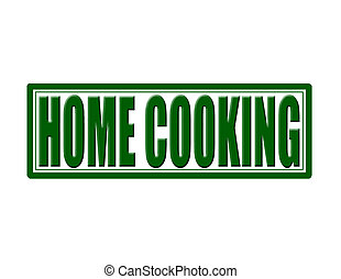 Home cooking - Stamp with text home cooking inside,vector...