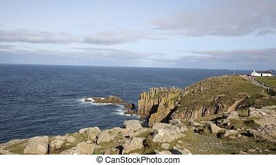 Lands End Cornwall England famous tourist attraction