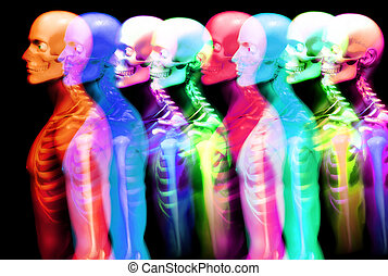 Man Bone - An x ray image of a some man in which you can see...