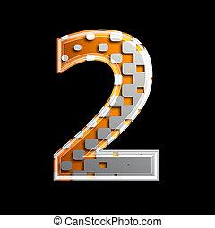 Halftone 3d digit - 2
