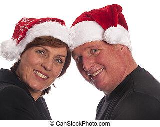 paar, Aantrekkelijk, Kerstmis