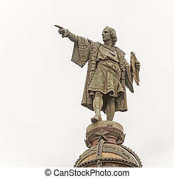 Statue of Columbus in Barcelona, Spain - Tower of Columbus...