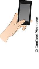 Hand Holding Smartphone - hand holding smartphone or phone