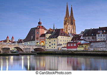 Regensburg - Image of unesco heritage and historic bavarian...