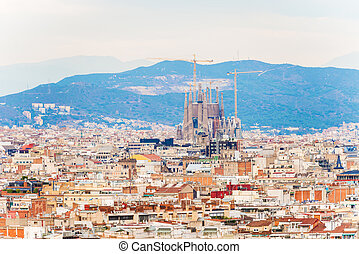 City of Barcelona aerial view