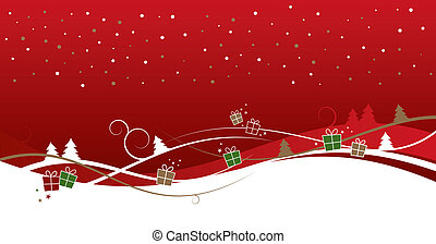Xmas Background - An abstract xmas background with gifts