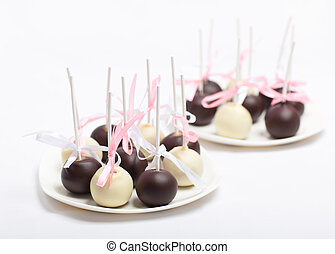 Cake pops brown, christmas, food, sweet, cake pops, candy,...