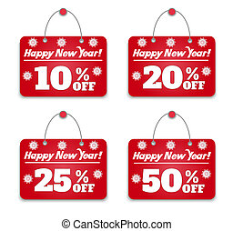 Sign board discount Happy New Year