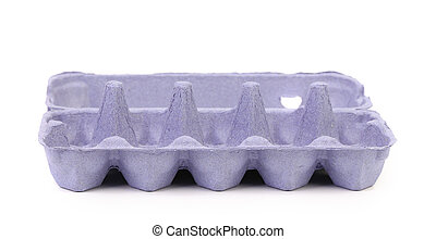 Empty carton egg box Isolated on a white background