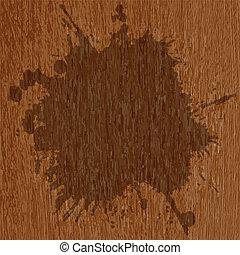 grunge splash on a striped wooden background