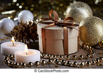 Christmas decorations and gift - Golden Christmas...