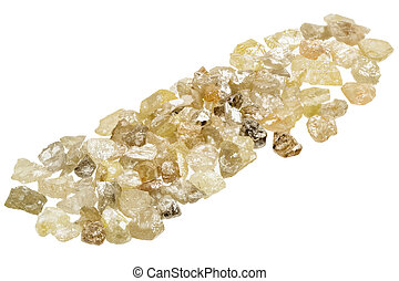 Raw uncut diamonds - A pile of raw, uncut natural diamonds...