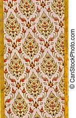 Thailand Fabric ,Pattern of Thailand native cloths