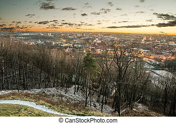 winter in Vilnius, Lithuania - First days of winter in...