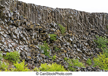 Basalt - Interesting columnar basalt at Hungary