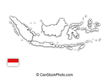 White map of Indonesia