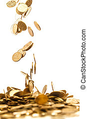 falling coins - falling gold coins