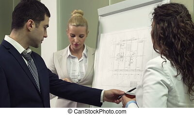 Scheme Presentation - Experienced businessman presenting a...