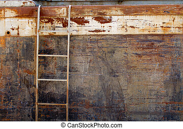 od ship detail - old ship detail with ladder