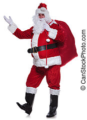 full body picture of santa claus greeting