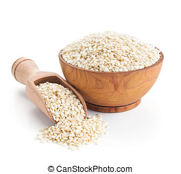 sesame seeds isolated on white background