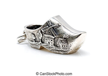 Silver dutch clog - Handcrafted silver jewel in the form of...