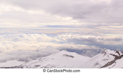 Dormant crater of Etna. Sicily, Italy. Time Lapse - One of...