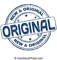 Original stamp - Original grunge office rubber stamp on...