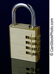 New Year Padlock 2014 Closed - Combination padlock showing...