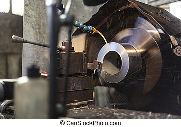 Industrial Milling - Industrial metal milling spinning with...