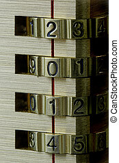 New Year Combination Lock 2014 - Close up of a combination...