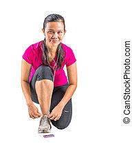 Female in Jogging Attire - Malay asian female in jogging or...