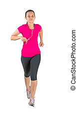 Malay Asian Female Running - Malay asian female jogging over...