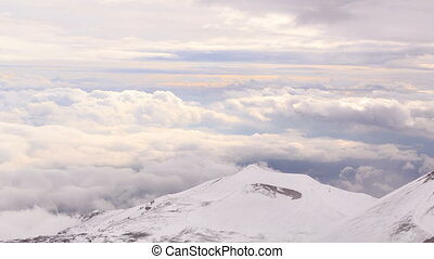 Dormant crater of Etna Sicily, Italy Time Lapse 4K - One of...