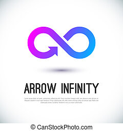 Arrow infinity business vector logo design template for your...