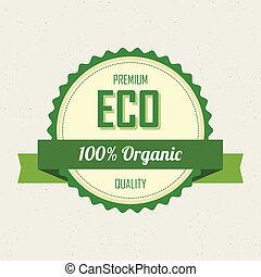 sustainability label - abstract sustainability label on a...