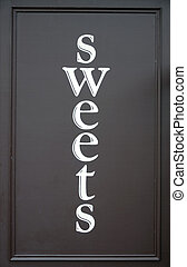 sweet shop sign