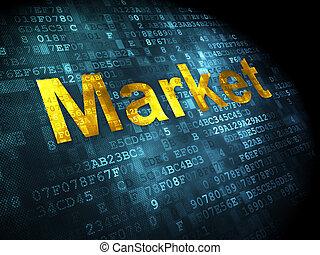 Finance concept: Market on digital background