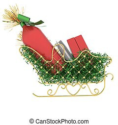 Christmas atmosphere sleigh - Christmas...