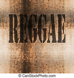 reggae word music abstract