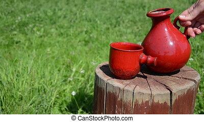 clay jar cup
