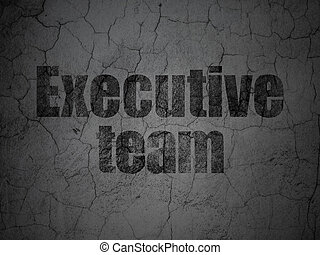 Finance concept: Executive Team on grunge wall background -...