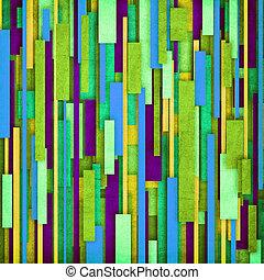 Retro stripe pattern in green, blue