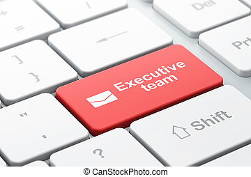 Business business concept: Email and Executive Team on...