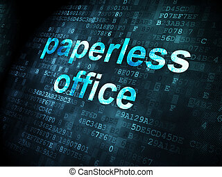 Business concept: Paperless Office on digital background -...